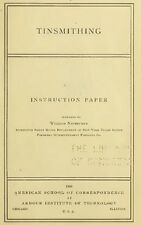 Tinsmithing How to Instructions Patterns Tables – By: William Neubecker Book CD