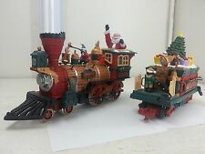 New Bright Holiday Express #384 Engine & Tender Christmas Locomotive G Scale