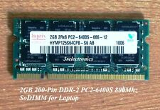 2GB Single Module 200-Pin DDR2 PC2-6400S 800MHz SDRAM SODIMM LAPTOP MEMORY