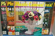 PLASTIC CANVAS! Magazine-LOT of 5--99 Projects-See photos with Table of Contents