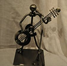 Guitar Player Metal Nuts and Bolts Musician Figurine NIB