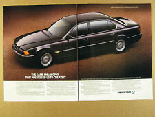 1995 BMW 7 Series 750iL Sedan black car photo vintage print Ad