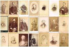 ANTIQUE CDV PHOTOS VICTORIAN GENTS / MEN WITH BEARDS & WHISKERS VINTAGE FASHION