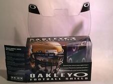 New Oakley 42-000 Adult Clear Football Visor Eye Shield