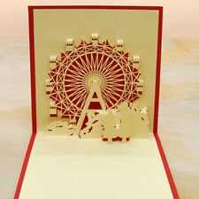 Happy Birthday Card Christmas Card Wheel Best Wish 3D Pop Up Greeting Cards