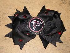 """NEW """"ATLANTA FALCONS"""" Pro Football Girls Ribbon Hair Bow Rhinestone Clip NFL"""