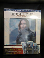 Star Wars Rogue One 3D/2D Blu-Ray DVD Digital HD 5 Disc Target Exclusive Rare