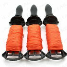 ★3 x 50M LONG REELS★BRICK LINE Builders/Rope/String/Cord/Straight/Level HIGH VIZ