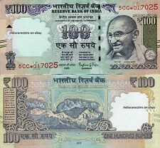INDIA 2015 Star Replacement Bank Note 100 RS Novel Number L Inset Rajan UNC NEW