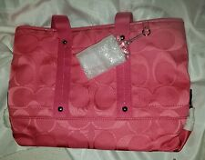 Coach Kyra Signature Tote Shoulder Crossbody Bag F18844 Hibiscus Pink NEW