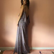 Blu Moon Lavender Floral Layered Maxi Dress MSRP $285