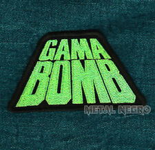 GAMA BOMB EMBROIDERED PATCH THRASH Metal Negro