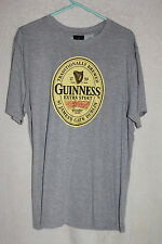 Guinness Extra Stout Mens Graphic T-Shirt Large Gray