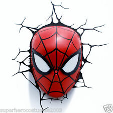 The Amazing Spider-Man Face 3D Deco LED Wall Light Marvel Comics NIB