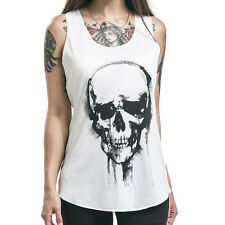 Girl Skull Print Tank Top Vest Blouse Gothic Women Clubwear Party T-Shirt WWS