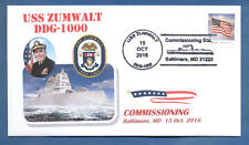 GREYTCOVERS NAVAL COVER USS ZUMWALT DDG-1000 COMMISSIONING15 OCT 2016 BALTIMORE