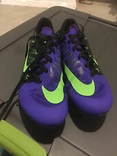 Nike Zoom Ja Fly 2 Black Green Purple Mens Sz 9.5 Victory Spikes Superfly NEW!!
