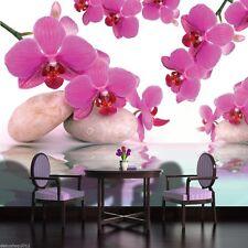 Fototapete Fototapeten Tapete Blumen Foto Poster Orchidee Wasser 151  P4