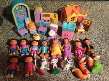Dora The Explorer Doll House Furniture Figures Family People Lot