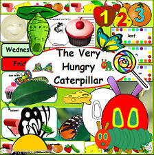 The Very Hungry Caterpillar Minibeasts teaching resources story sack KS1 EYFS cd