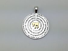 Chai 72 Names of God Sterling Silver Gold Plated Pendant Necklace Kabbalah