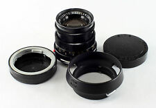 Leica M Lens - Summicron 2/50mm, #2534872, feet & meters, with lens covers/shade