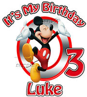 New Mickey Mouse Personalized  Birthday T Shirt Christmas Disney Vacation Gift