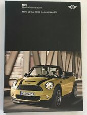 2009 Mini Cooper and S Convertible Media Press Kit Brochure Pack with CD