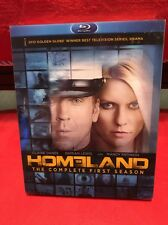 Homeland: The Complete First Season (Blu-Ray Disc, 2012, 3-Disc Set) + Slipcover