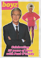 BOYZ MAGAZINE - CELEBRATING 25 YEARS OF BOYZ WITH PAUL O'GRADY - GAY INTEREST