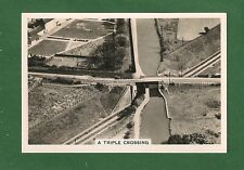 TRIPLE CROSSING Grand Union Canal GWR Railway HANWELL ASYLUM photo card of 1939