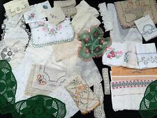 Vintage Linen Medium Flat Rate Box Lot Of Pure Joy! (RF216)