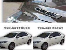 2x AUTO ACCESSORIES Exterior DECORATION Simulation Shark Gill Car Side Decals