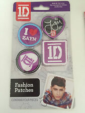 One Direction 1D Fashion Patches iron on Zayn original Collectiable RARE