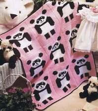 50 AFGHAN CROCHET PATTERNS BOOK ~ PANDA BEAR SANTA GEOMETRIC SUNFLOWER SCRAP