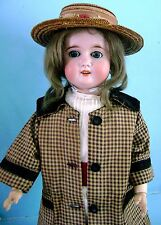 "Antique Vintage German Bisque,Composition,Wood Bergmann Doll 23"" in Orig Clothes"