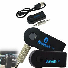 Wireless BLUETOOTH Audio Receiver 3.5mm AUX Adapter Car Music Stereo Hands Free