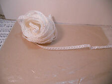 MILLINARY PAPER STRAW FOR DOLL HATS 10 YARDS OF WHITE Open Weave