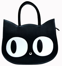 Banned Apparel Cat Kitty Paw Large Faux Leather Handbag School Uni Shoulder Bag