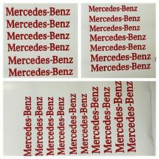 8 pc set Red Mercedes Benz Brake Caliper Vinyl Sticker Decal Logo Overlay AMG