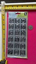 Inkadinkado Clear Stamps Animal Skins Alphabet Numbers Letters New 36 pcs