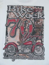New 2011 Daytona Beach Bike Week T Shirt Motorcycle 70th Anniversary (XL)