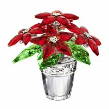 Swarovski Crystal Christmas Large Poinsettia Figure NIB!