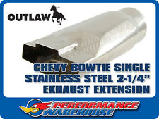 """CHEVY BOWTIE STAINLESS STEEL EXHAUST EXTENSION 2-1/4"""""""