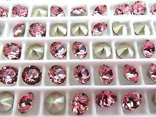 12 Antique Pink Foiled Swarovski Crystal Chaton Stone 1088 29ss 6mm