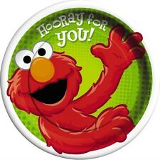 SESAME STREET Hooray For Elmo LARGE PAPER PLATES (8) ~ Birthday Party Supplies