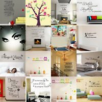 DIY Removable Owls Art Vinyl Quote Words Wall Sticker Decals Home Decor For Kids