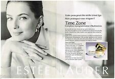 PUBLICITE ADVERTISING 095  1992  ESTEE LAUDER  ( 2p) cosmétiques (2p) TIME ZONE