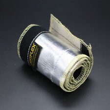 "Aluminized Metallic Heat Shield Sleeve Insulated Wire Hose Cover Loom 1/2"" 10Ft"