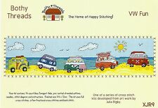BOTHY THREADS VW CAMPER VAN FUN AT THE SEASIDE COUNTED CROSS STITCH KIT - NEW